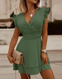 Šaty - kód 5654 - olivovo zelená