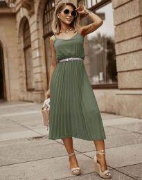 Šaty - kód 1249 - olivovo zelená