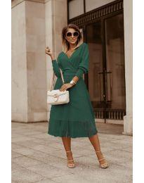 Šaty - kód 9994 - olivová  zelená