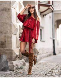 Šaty - kód 324 - červená