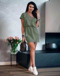 Šaty - kód 3214 - olivovo zelená