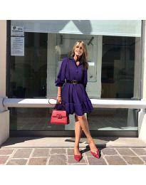 Šaty - kód 960 - tmavě fialová