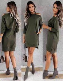 Šaty - kód 8858 - olivovo zelená
