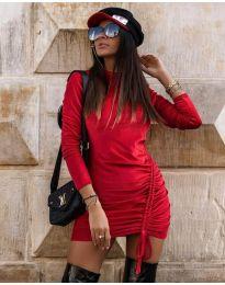 Šaty - kód 9545 - červená