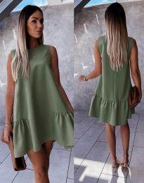 Šaty - kód 3456 - olivovo zelená