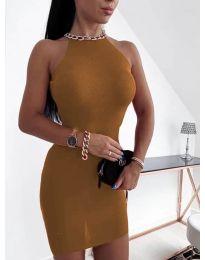 Šaty - kód 9690 - hnedá