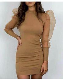 Šaty - kód 3545 - hnedá