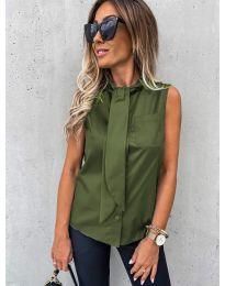 Košeľa - kód 5531 - olivová  zelená