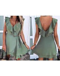 Šaty - kód 7799 - olivová  zelená
