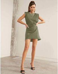 Šaty - kód 625 - olivová  zelená