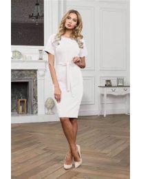 Šaty - kód 3698 - biela