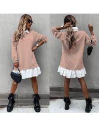 Šaty - kód 5516 - pudrová