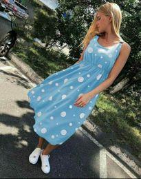 Šaty - kód 8122 - 3 - svetlo modrá