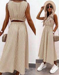 Šaty - kód 2687 - bežová