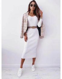 Šaty - kód 5878 - biela