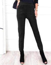 Дамски спортно-елегантен панталон в черно - код 2836