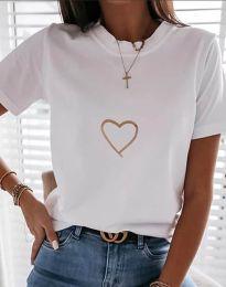 Tričko - kód 3701 - biela