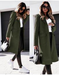 Kabát - kód 3435 - olivová  zelená