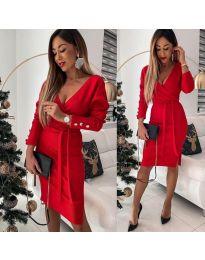 Šaty - kód 1584 - 2 - červená