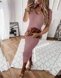 Šaty - kód 0714 - 4 - pudrová