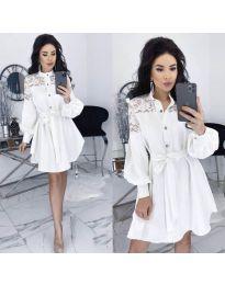 Šaty - kód 6364 - biela