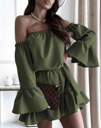 Šaty - kód 8513 - olivová  zelená