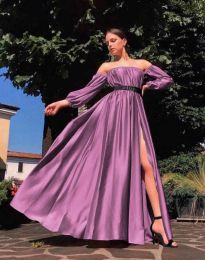 Šaty - kód 1879 - tmavofialová