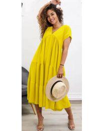 Šaty - kód 4475 - žltá