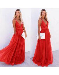 Šaty - kód 5587 - červená
