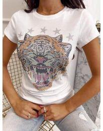 Tričko - kód 6596 - biela