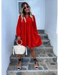 Šaty - kód 6643 - červená