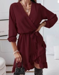 Šaty - kód 5371 - bordeaux