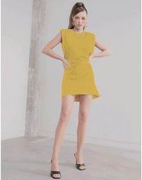 Šaty - kód 625 - hořčičná