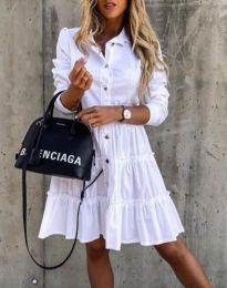 Šaty - kód 1366 - 2 - biela