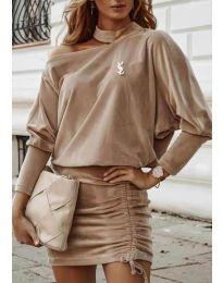 Šaty - kód 8987 - bežová