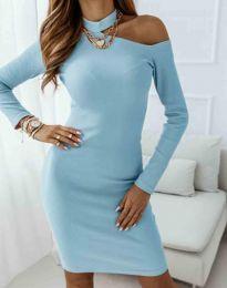 Šaty - kód 0984 - 4 - svetlo modrá