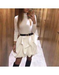 Šaty - kód 8380 - biela