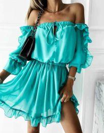 Šaty - kód 0223 - tyrkysová