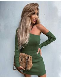 Šaty - kód 4933 - olivová  zelená