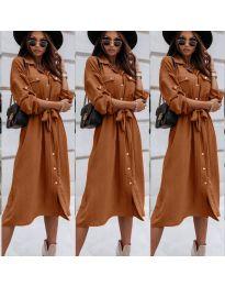 Šaty - kód 1510 - hnedá