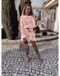 Šaty - kód 6208 - ružová