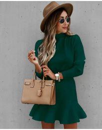 Šaty - kód 9140 - olivová  zelená