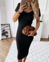 Šaty - kód 0714 - 2 - čierná