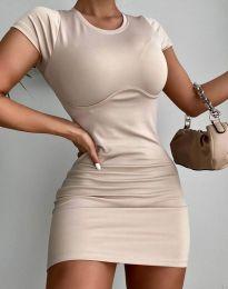 Šaty - kód 12833 - bežová