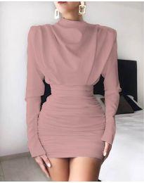 Šaty - kód 8257 - pudrová