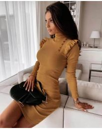 Šaty - kód 8484 - hořčičná