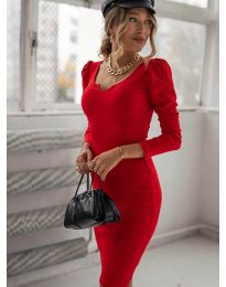 Šaty - kód 11548 - červená