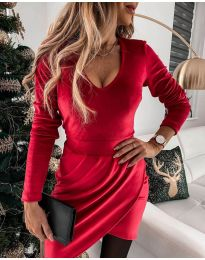Šaty - kód 2129 - červená