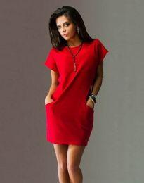 Šaty - kód 1585 - 2 - červená
