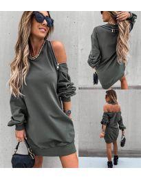 Šaty - kód 296 - olivová  zelená